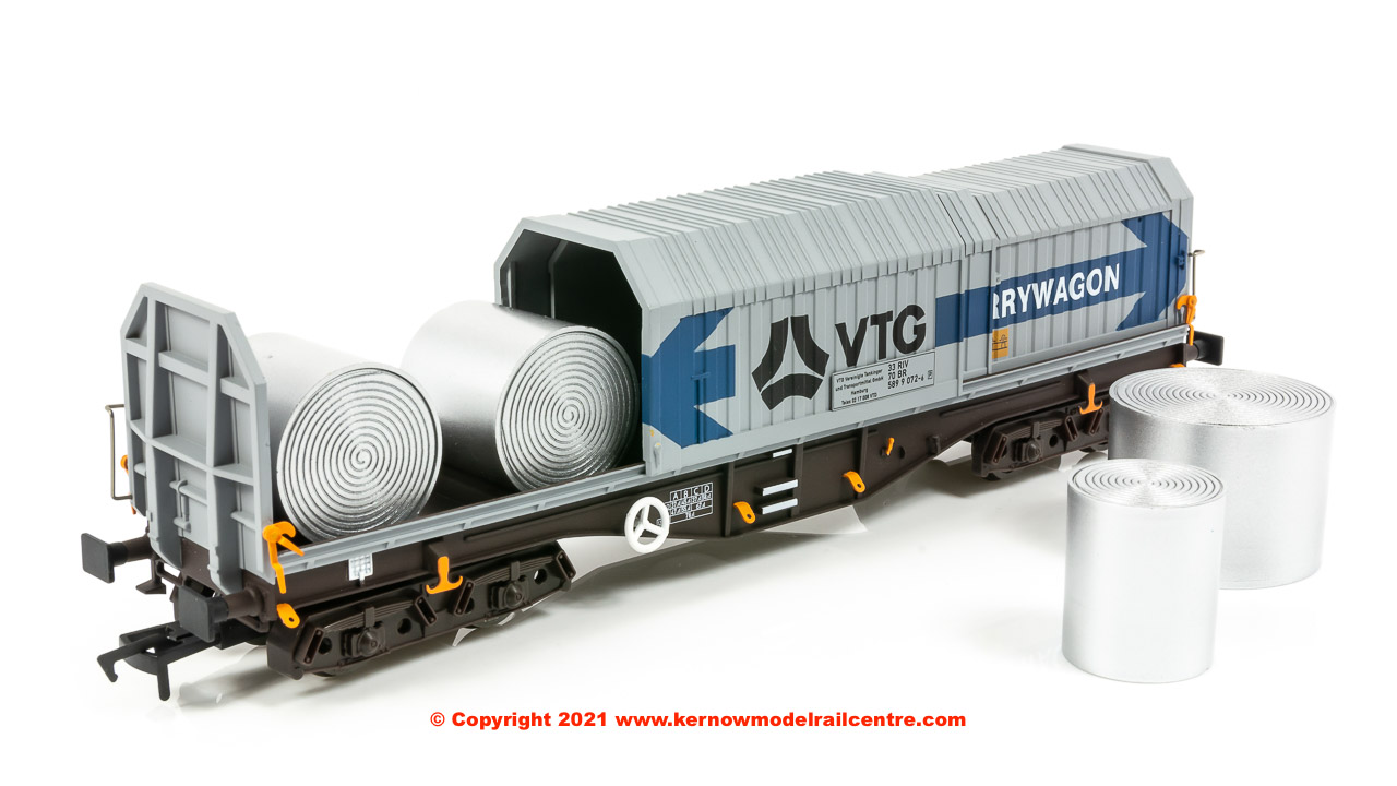 4F-039-012 Dapol Telescopic Hood Wagon Tiphook Blue Grey Livery